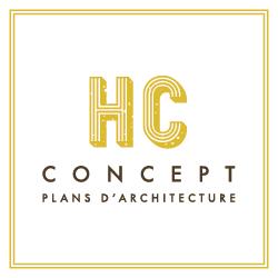 Logo HC concept - plans d'architecture sur la Côte de Beaupré